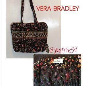 Vera Bradley laptop organizer black floral bag